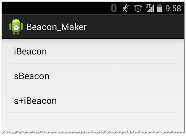 Beacon Maker Select iBeacon